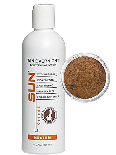 Autobronceador Instante Tan Overnight Self Tanner 8 oz + Selfish Bronceador Powder 2 g Hermoso Brillo Natural- Maquillaje con...