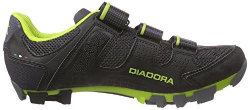 Diadora X Trivex II - Zapatillas de Ciclismo Unisex Adulto Schwarz (black/lime punch5808)