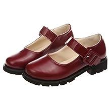 Women's Girl's Lolita Low Top Japanese Students Maid Uniform Dress Shoes