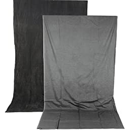 Impact Reversible Muslin Background (10 x 24\', Dark Gray/Light Gray)