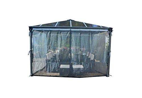 Palram Palermo Mosquito Netz Maße (L x H): 360 x 217 cm Material: Poliyester Frabe: Grau