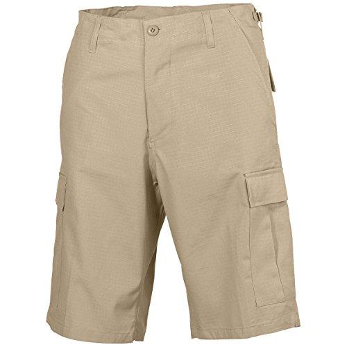 MFH Men's US BDU Bermuda Shorts Ripstop Khaki Size XXL (Shorts Combat Ripstop Bdu Khaki)