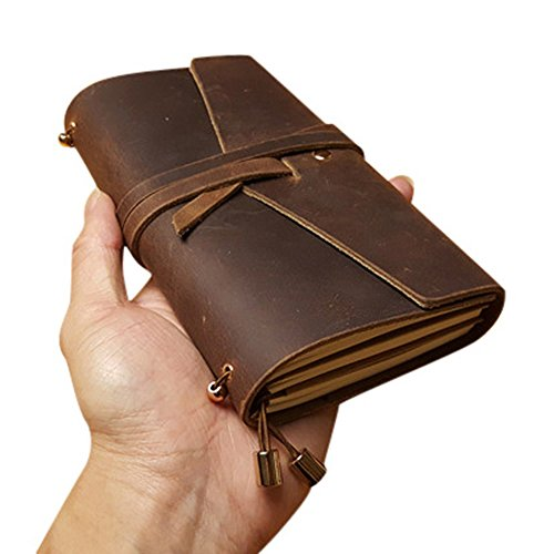 Vintage Leather Travel Diary Notebooks-Art Sketchbook Brown Writing Notebook-Best Gift for Male & Female