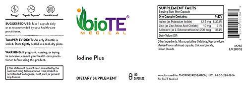 BioTE Medical - Iodine Plus 12.5 mg, 180 Veggie Caps