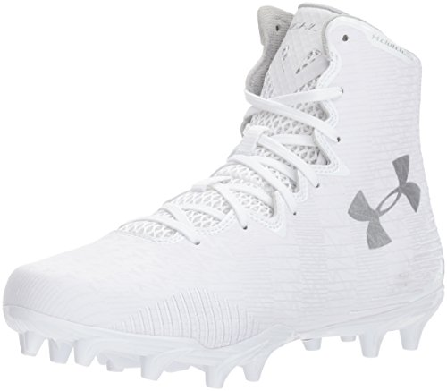 Under Armour Women's Lax Highlight MC Lacrosse Shoe, White (104)/White, 9