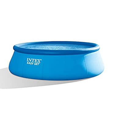 "Intex 18' x 48"" Inflatable Easy Set Swimming Pool with Ladder, Cover, and Pump (26175EH)"