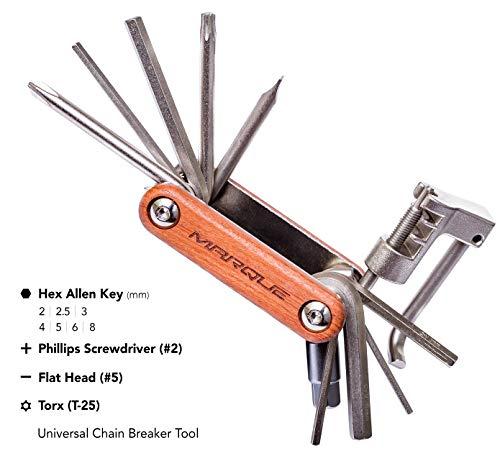 MARQUE Bike Multitool Repair Kit – Bicycle Multi Tool 11-Function Including Chain Breaker Tool