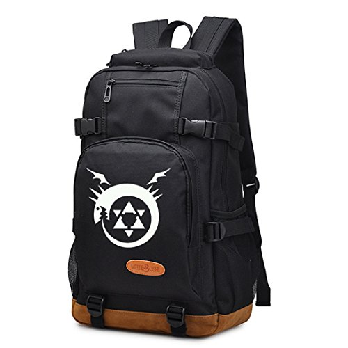 YOYOSHome Anime Fullmetal Alchemist Cosplay College Bag Daypack Bookbag Backpack School Bag