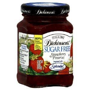 (Dickinson's Sugar Free Strawberry Preserves 8 Oz (Pack of 2))