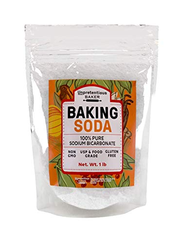 (Baking Soda, 2 lbs. by Unpretentious Baker, Highest Quality Food & USP Grade, Non-GMO, Pesticide Free, Great for Baking & Cooking, Leavening Agent, Pure Sodium Bicarbonate)