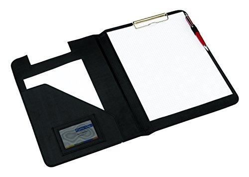 Aktenmappe Schreibmappe schwarz mit integriertem Klemmbrett A4