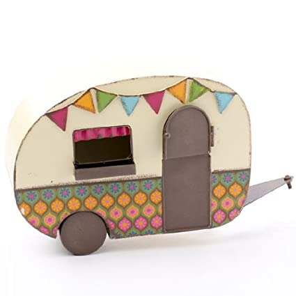 Groovy Colorful Metal Rv Camper For Fairy Gardens Vintage Crafts And Displays By Unknown