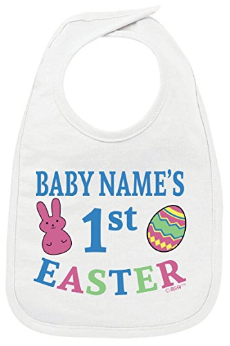 Personalized Baby Clothes Personalized Baby's First Easter Custom Baby Bib - Infant Baby Bib Custom