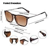 Carfia Square Polarized Sunglasses for Men UV