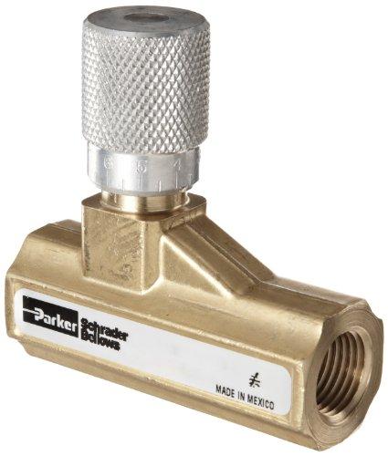 Parker 003381103 338 Series Brass Needle Valve, 1/2