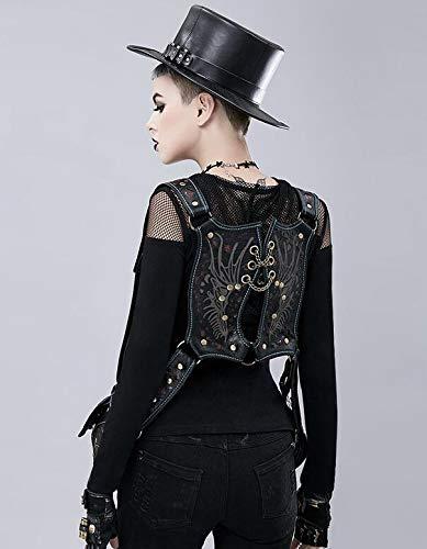 Zhou xue xue xue li Männer und Frauen Mode Persönlichkeit Steampunk Rucksack weibliche Weste Tasche B07JW72R5B Trekkingruckscke Hohe Sicherheit ebddc6