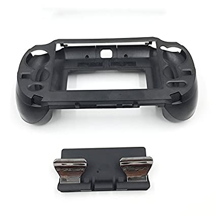 L3 R3 Matte Hand Grip Handle Joypad Stand Case with L2 R2 Trigger Grips  Handel Holder Button for PS Vita PSV 1000 (Black)