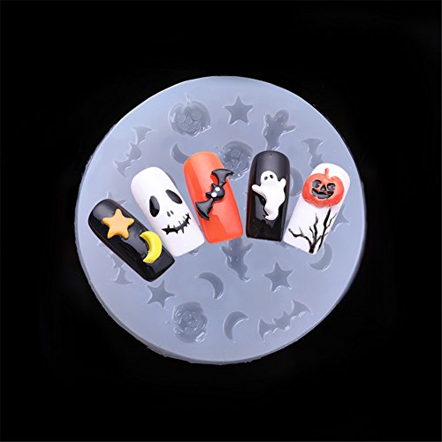 BORN PRETTY 3D Nail Mold Halloween Silicone Mould Pumpkin Bat Patterns Nail Art Decoration DIY -
