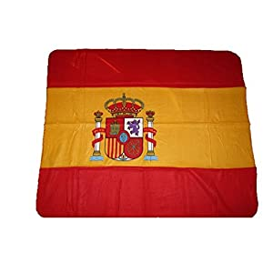K's Novelties Spain Spanish Flag 50x60 Polar Fleece Blanket Throw