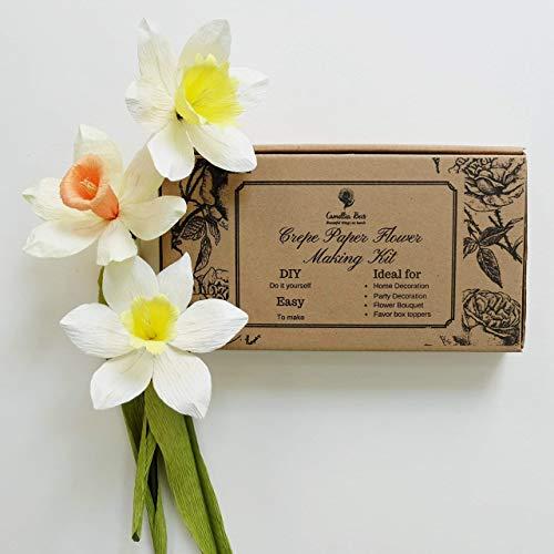 Amazon crepe paper flower making kit narcissus handmade crepe paper flower making kit narcissus mightylinksfo