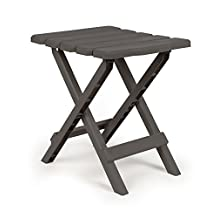 Camco 51881 Charcoal Regular Quick Folding Adirondack Side Table