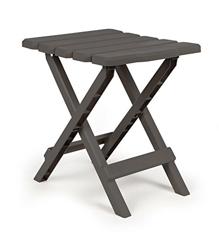 Adirondack Portable Outdoor Folding Side Table, Perfect for The Beach, Camping, Picnics, Cookouts and More, Weatherproof and Rust Resistant - Charcoal ()