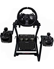 GT Omega Racing Wheel Stand for Logitech G920 G29 G923 Driving Force Gaming Steering Wheel, Pedals & Gear Shifter Mount V2, PS4, Xbox, Ferrari, PC - Foldable, Tilt-Adjustable to Ultimate Sim Racing Experience