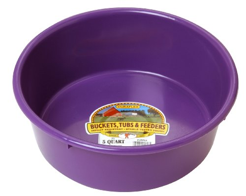 - LITTLE GIANT P5PURPLE Dura-Flex Plastic Utility Pan, 5-Quart, Purple