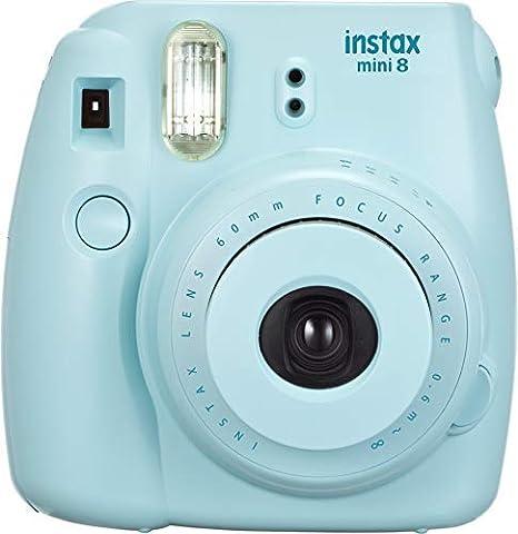 Comprar Fujifilm Instax Mini 8 - Cámara analógica instantánea (flash, velocidad de obturación fija de 1/60 s), color azul
