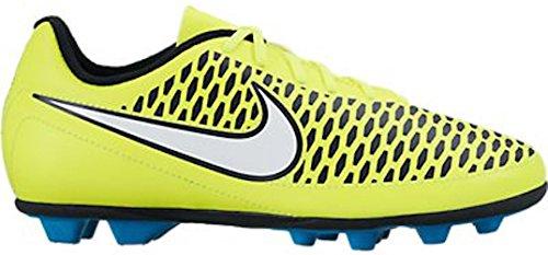 NIKE JUNIOR MAGISTA OLA FG-R (VOLT/BLUE LAGOON/BLACK) (1Y) (Nike Elastico Sock)