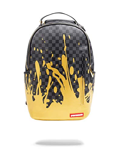 Sprayground - Unisex Adult Liquid Gold Backpack, Size: O/S, Color: Black/Gold