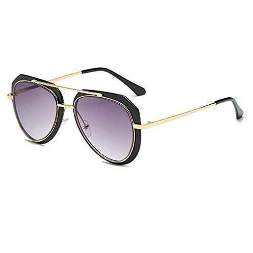 Aoligei Lunette de soleil bicolore crapaud lunettes de soleil rétro 8q6MPU