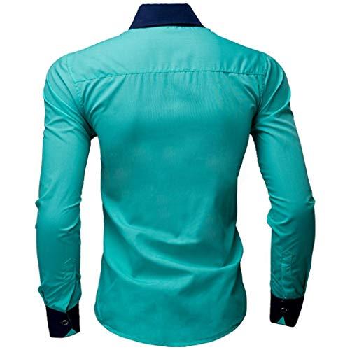 Puro Covermason Camisa Menta Manga Negocio Larga Hombre De Casual Camisas Verde Para Color Fg4qafy