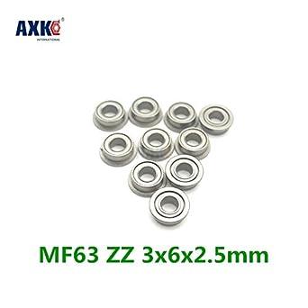 MF63ZZ Metal Shielded Deep Groove Flanged Ball Bearing 3x6x2.5mm