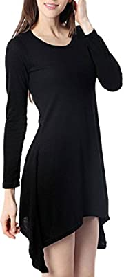 For G & PL Women's Long Sleeve Asymmetry Slim Fit Tops