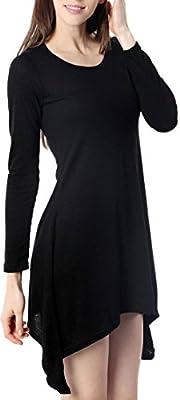 For G & PL Women's Long Sleeve Asymmetry Slim Fit Tops