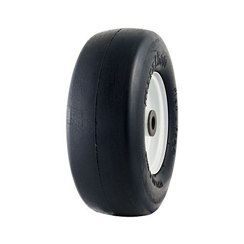 Marathon 11x4.00-5'' Flat Free Tire on Wheel, 3'' Hub, 3/4'' Bushings by Marathon Industries