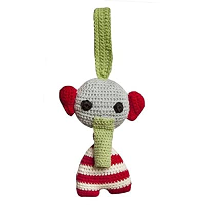 Franck & Fischer Joe Sensory Elephant Hanging Rattle (Pack of 2) (1102-2111), Multi-Colour (1): Toys & Games
