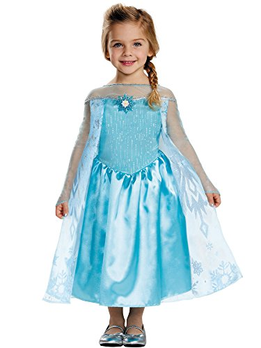 Disney Frozen's Elsa Glitter Princess Costume Dress Toddler  3T-4T]()