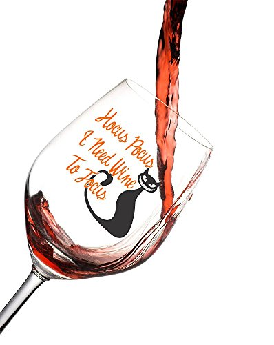 [Halloween Wine Glass features the saying