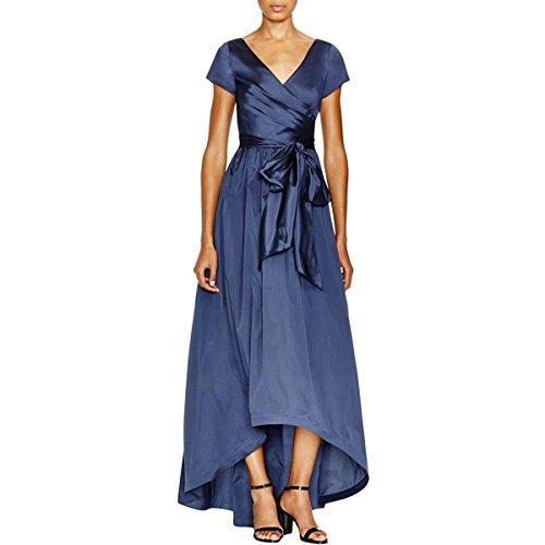 Navy Blue Taffeta Dress - 4