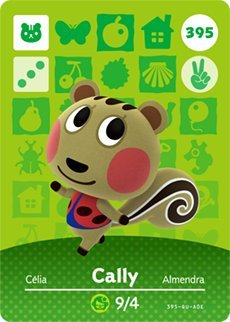 Cally - Nintendo Animal Crossing Happy Home Designer Series 4 Amiibo Card - 395