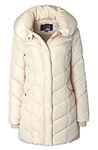 951e33273 Sportoli Womens Winter Fleece Lined Chevron Quilted Puffer Jacket ...