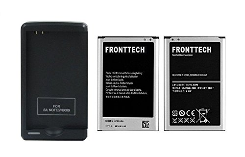 Oem Extended Battery (FrontTech 3200mAh OEM Battery+Charger For Samsung Galaxy Note 3 N9000 N9005 N900A N900 (2batteries+1charger))