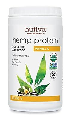 Nutiva Organic Hemp Shake, Superfood Drink Mix, 16 Ounce Canisters