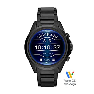Armani Exchange Men's Smartwatch Powered with Wear OS by Google with Heart Rate, GPS, NFC, and Smartphone Notifications