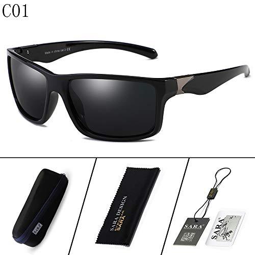 Sol Deportivas Gafas nbsp;Espejo Colorido A 3 Sol equitación de sunglasses nbsp;Reflectante polarizadas de Mjia nbsp; Hombre Black Gafas de Gafas Deportivas OxwgqY