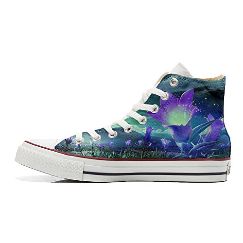 Zapatos Personalizados Converse All Producto Unisex Fiori Star Fantasy Handmade A6nnEHp