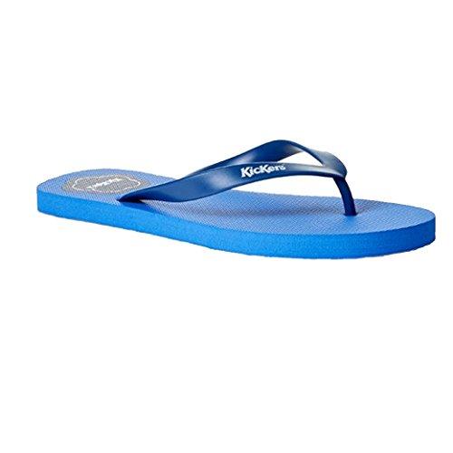 Kickers Fleurette Kids Junior Childrens Summer Indoor Flip Flop Slipper Blue DGWfOR1K1O