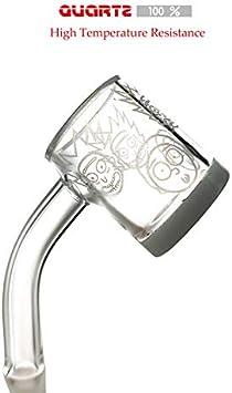xuzhao25 Glass Accessories 45 Degree Quartz Smokeless Kit 14mm Female(Clear)
